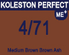 New Koleston Perfect Me+ 4/71 Medium Brown Brown Ash 60ml