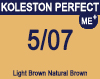 New Koleston Perfect Me+ 5/07 Light Brown Natural Brown 60ml