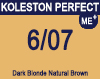 New Koleston Perfect Me+ 6/07 Dark Natural Brunette Blonde 60ml