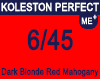 New Koleston Perfect Me+ 6/45 Dark Red Mahogany Blonde 60ml