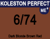 New Koleston Perfect Me+ 6/74 Dark Brunette Red Blonde 60ml
