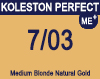 New Koleston Perfect Me+ 7/03 Medium Natural Gold Blonde 60ml