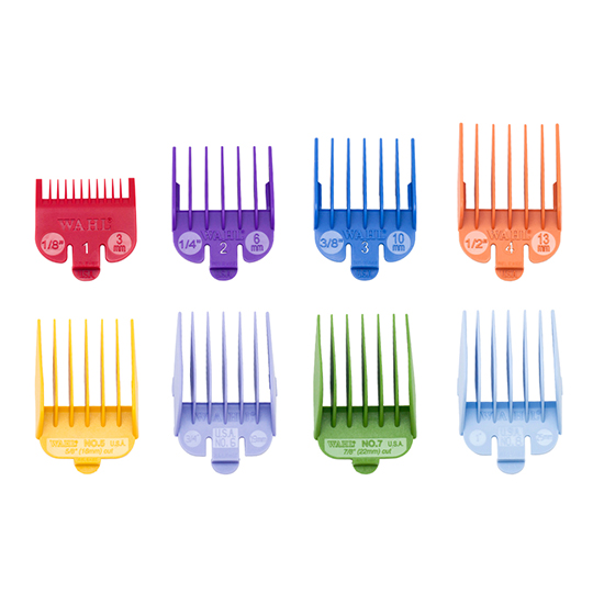 Wahl Comb Guard Set Coloured 8 Pack No.1-8
