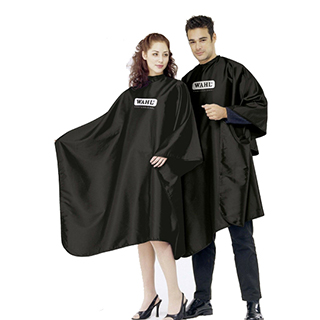 WAHL CUTTING GOWN/CAPE  BLACK WITH LOGO