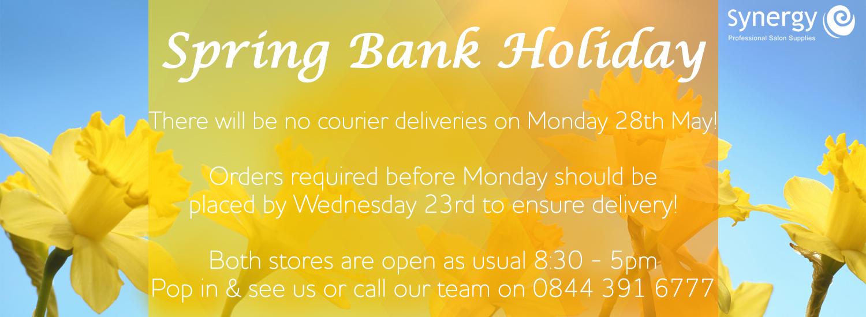 Bank Holiday 28.05.18